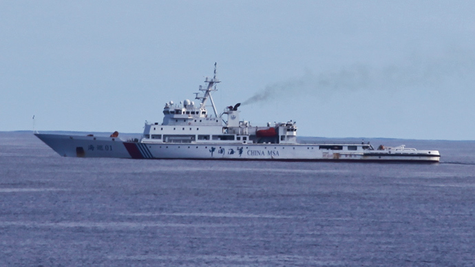 Chinese patrol ship Haixun 01 is pictured during a search for the missing Malaysia Airlines flight MH370, in the south Indian Ocean April 5, 2014, in this photo courtesy of China News Service (Reuters)