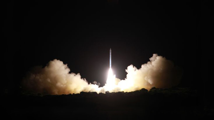 Ofek 10's launch. April 9, 2014. Photo by Defense Ministry and Israel Aerospace Industries