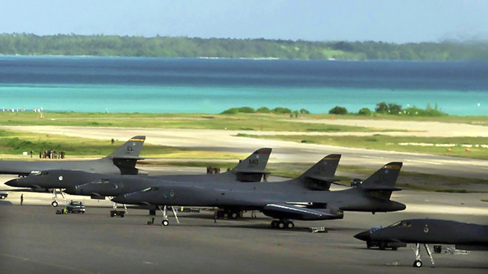 Naval Support Facility Diego Garcia (AFP Photo / USAF)