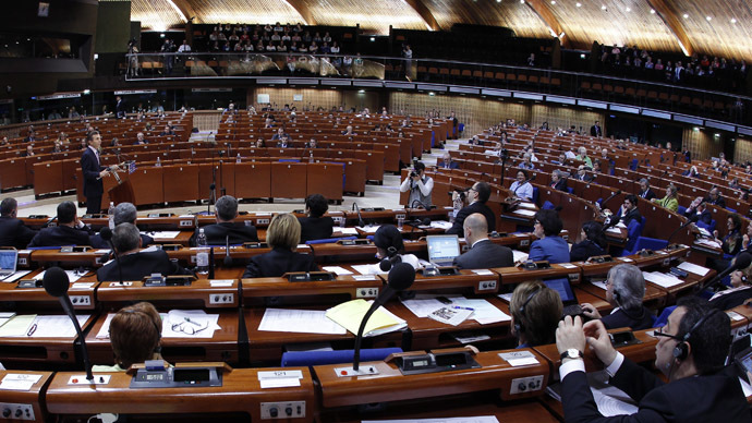 General view of the plenary room of the Parliamentary Assembly of the Council of Europe (Reuters/Vincent Kessler)