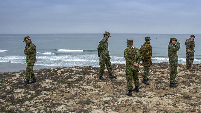 Officers from the Japan Ground Self-Defense Force (AFP Photo / Joe Klamar)