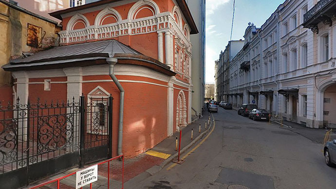St Cosmas and St Damian Church, Moscow (Image from maps.yandex.ru)
