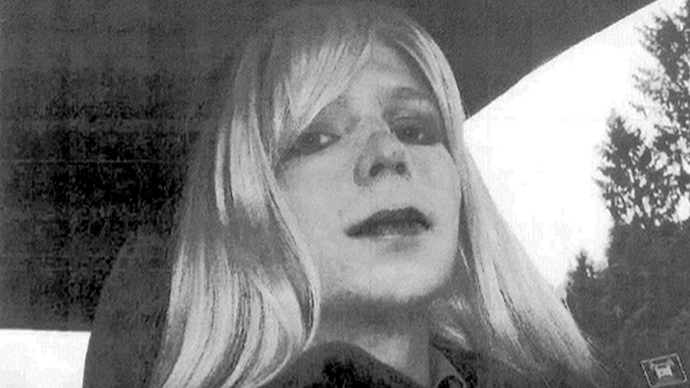 This undated photo courtesy of the US Army shows a photo of Manning in wig and make-up. (AFP Photo / US Army)