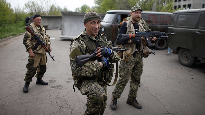 Kramatorsk, in eastern Ukraine May 2, 2014. (Reuters / Marko Djurica)