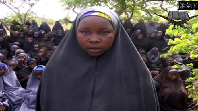 From a video released by Boko Haram reportedly showing the missing schoolgirls abducted by the group .(AFP Photo / Boko Haram)