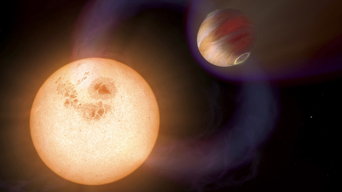 An artist's impression shows a unique type of exoplanet discovered with the Hubble Space Telescope. (Reuters/NASA)