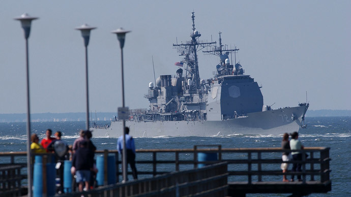 USS Vella Gulf missile cruiser.(Reuters / Chip East)