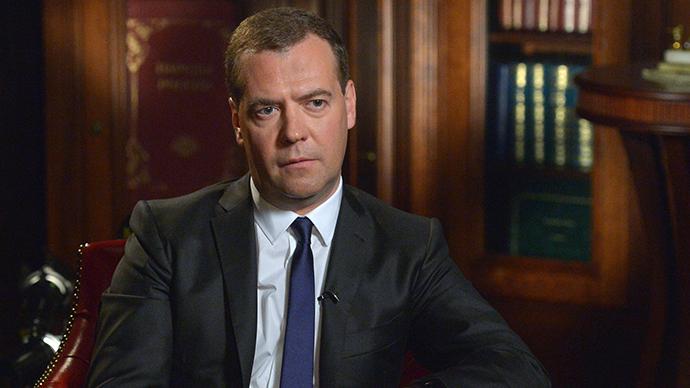 Russian Prime Minister Dmitry Medvedev (RIA Novosti / Alexander Astafiev)