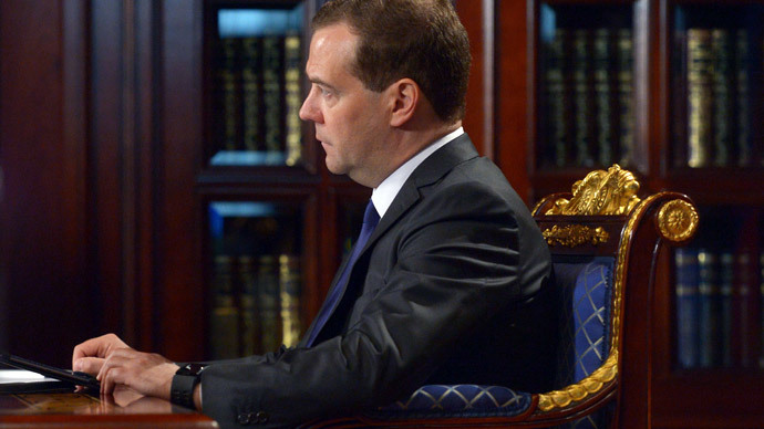 Prime Minister Dmitry Medvedev.(RIA Novosti / Alexander Astafyev)