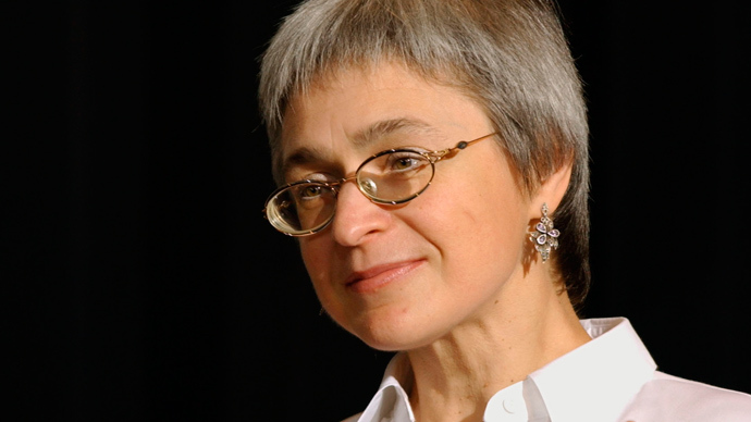 A file picture taken on October 16, 2002 , shows investigative journalist and human rights activist Anna Politkovskaya (AFP Photo)