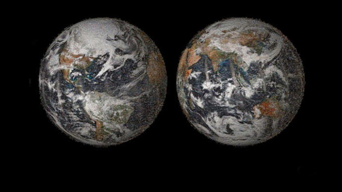The 3.2 gigapixel Global Selfie mosaic, hosted by GigaPan, was made with 36,422 individual images that were posted to social media sites on or around Earth Day, April 22, 2014. (Image from NASA)
