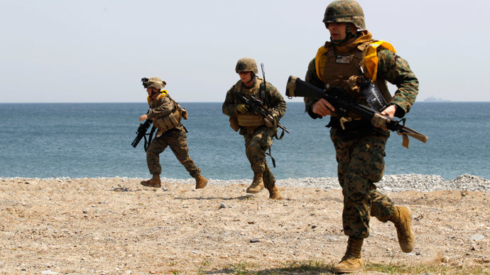 Marines of the U.S. Marine Corps, based in Japan's Okinawa.(Reuters / Lee Jae-Won)