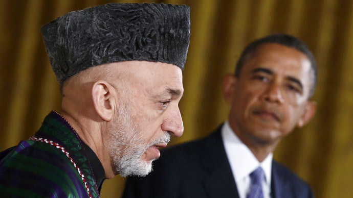 Afghan President Hamid Karzai and U.S. President Barack Obama (Reuters/Jason Reed)