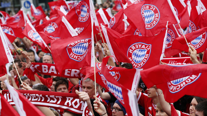 Bayern Munich's supporters (Reuters/Michaela Rehle)