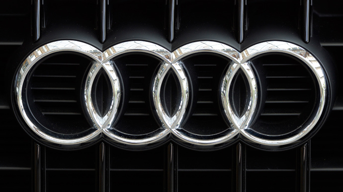 The logo of German carmaker Audi (AFP Photo)