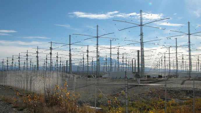 HAARP antenna array (image by Michael Kleiman, US Air Force)