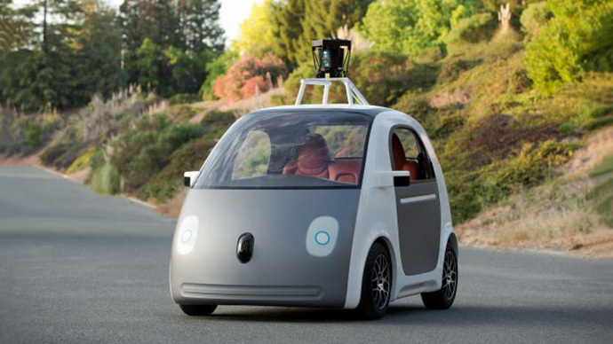Google showed off its prototype self-driving car on Tuesday in a video and blog post. (Image from  recode.net)