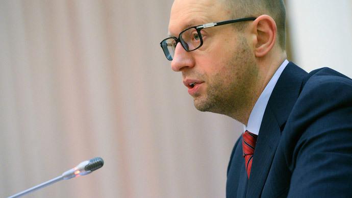 Arseniy Yatsenyuk (Reuters / Andrew Kravchenko / Pool)