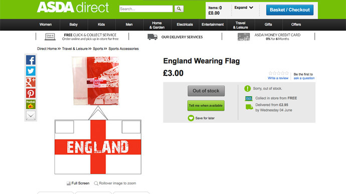 Screenshot from http://direct.asda.com