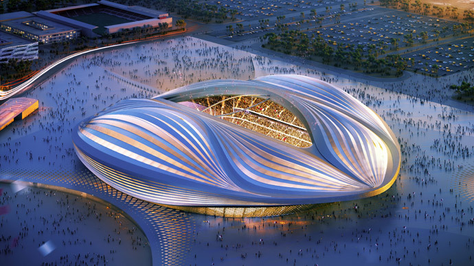 Stadium to be built in Al-Wakrah for the Qatar's 2022 World Cup.(AFP Photo / Qatar 2022 committee)