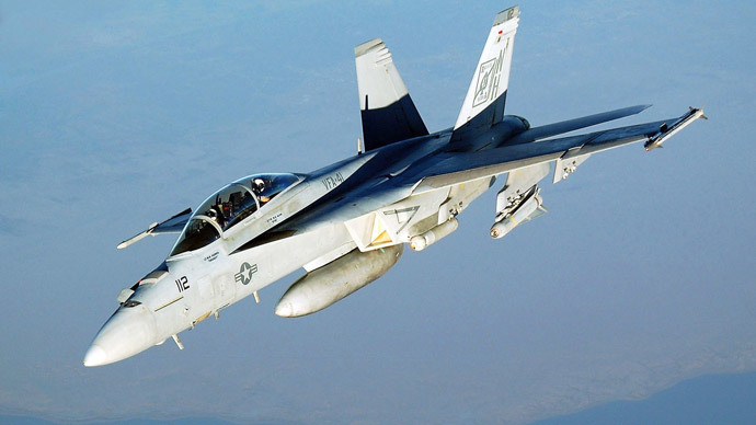 F/A-18E Super Hornet jet (image by US Army)