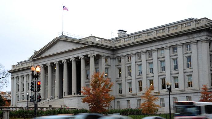The US Treasury Building in Washington, DC (AFP Photo/Karen Bleier)