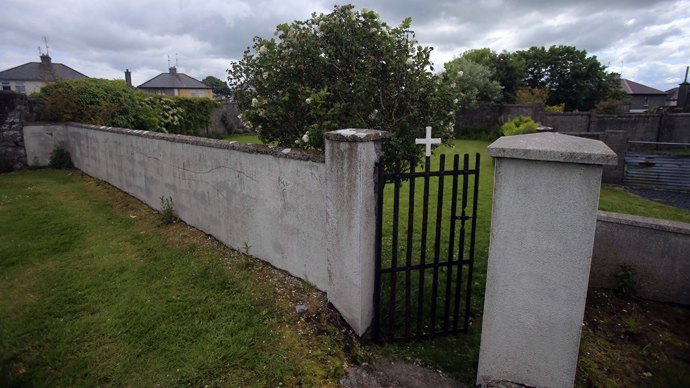 The entrance to the site of a mass grave of hundreds of children who died in the former Bons Secours home for unmarried mothers is seen in Tuam, County Galway June 4, 2014 (Reuters / Stringer)