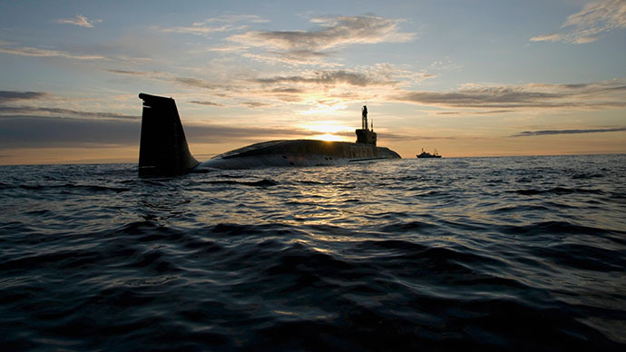 Nuclear submarine Yury Dolgoruky at trial trip (RIA Novosti)