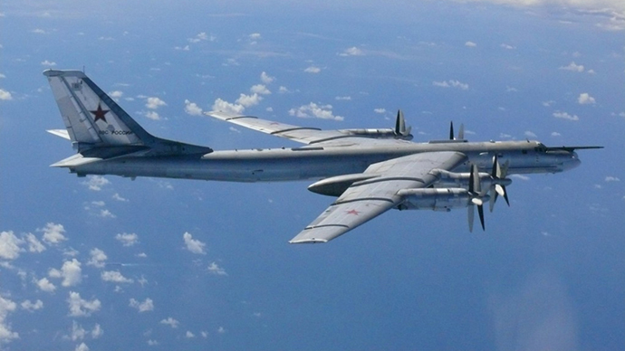 FILE photo. A Russian TU-95 bomber (Reuters)