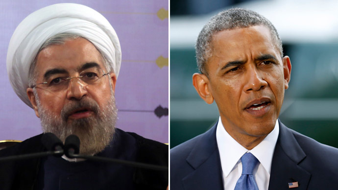 Iranian President Hassan Rouhani (L) and U.S. President Barack Obama (AFP Photo/Reuters)