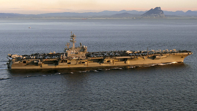 The aircraft carrier USS George H. W. Bush (CVN 77) (Reuters/U.S. Navy/Lt. Juan David Guerra)