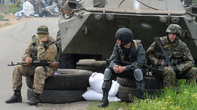 Ukrainian troops outside the town of Andreyevskoye near Slavyansk, Donetsk Region (RIA Novosti / Mikhail Voskresenskiy)