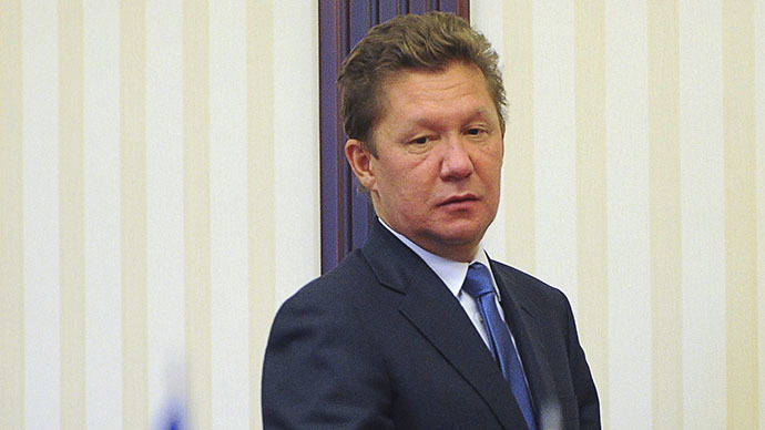 A handout photo released on June 16, 2014 by the Prime Minister press-service, shows Alexei Miller, Head of Russia's Gazprom company, arriving to attend a round of talks in Kiev. (AFP Photo / Andrew Kravchenko)