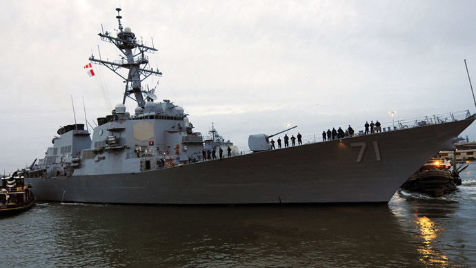 The guided-missile destroyer USS Ross (Reuters/U.S. Navy/Tamekia L. Perdue)