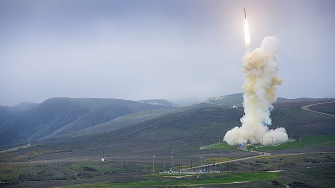 FILE photo. Ground-based Midcourse Defense launch. (Image from boeing.com)