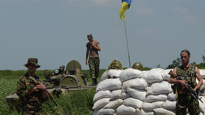 A checkpoint of the Ukrainian military in Amvrosievka, Donetsk Region (RIA Novosti / Maksim Blinov)
