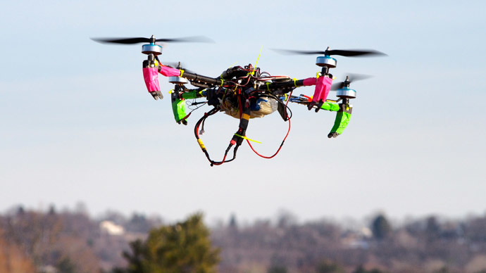 California man uses surveillance drone to keep an eye on cops