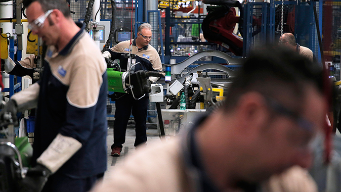 An employee's works in the Fiat Abarth factory in Turin, northern Italy (AFP Photo / Marko Bartorello)
