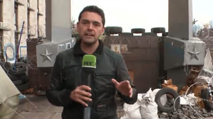 Mauricio Ampuero (Screenshot from RT Spanish video)