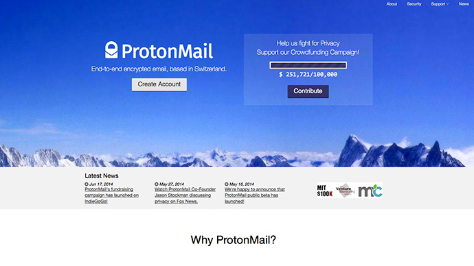 Screenshot from protonmail.ch