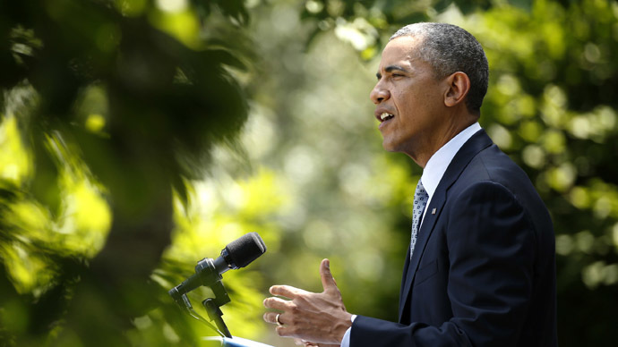 U.S. President Barack Obama speaks about immigration reform from the Rose Garden of the White House in Washington June 30, 2014. (Reuters/Kevin Lamarque)