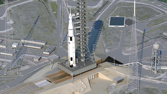The Space Launch System (AFP Photo / HO / NASA)