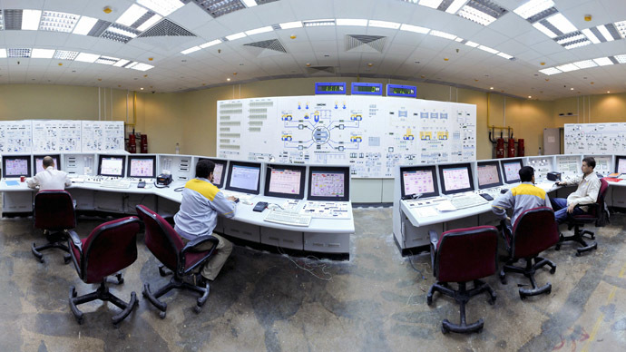 Iranian operators monitor the nuclear power plant unit in Bushehr, about 1,215 km (755 miles) south of Tehran (Reuters/ISNA/Mehdi Ghasemi)