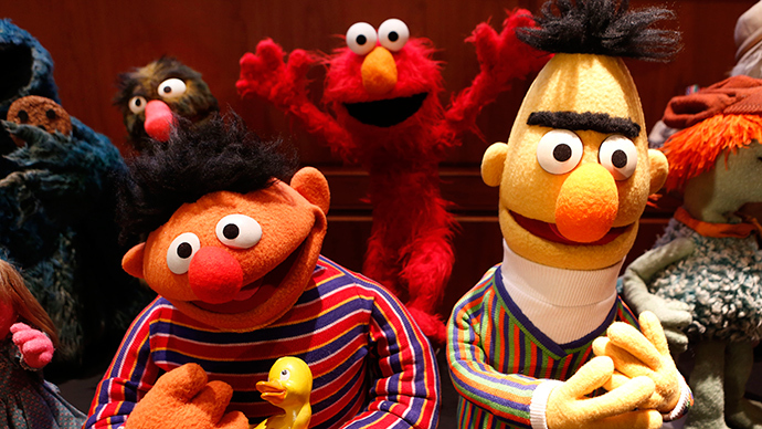 Puppets Ernie (L) and Bert from Sesame Street (Reuters / Larry Downing)