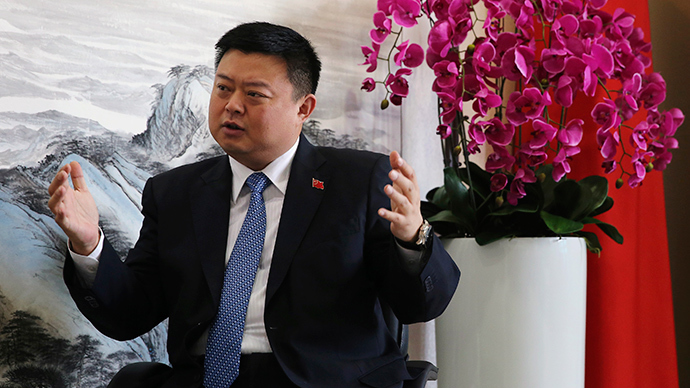Wang Jing, Chairman and CEO of Xinwei Telecom Enterprise Groups and Chairman and CEO of HK Nicaragua Canal Development Investment Co. Ltd. (HKND) (Reuters / Barry Huang)