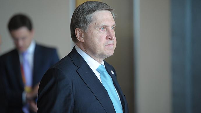 Russian Presidential Aide Yury Ushakov before (RIA Novosti / Alexey Druzhinin)