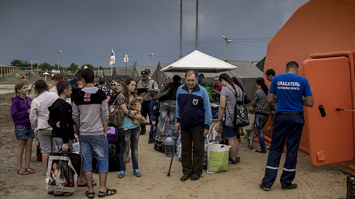 Refugees from Ukraine in a camp in the Rostov region (RIA Novosti / Valery Melnikov)