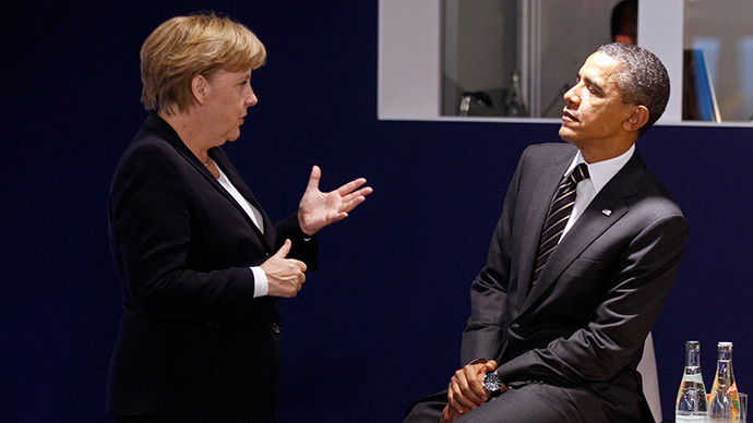 Germany's Chancellor Angela Merkel (L) and U.S. President Barack Obama (R) (Reuters / Kevin Lamarque)