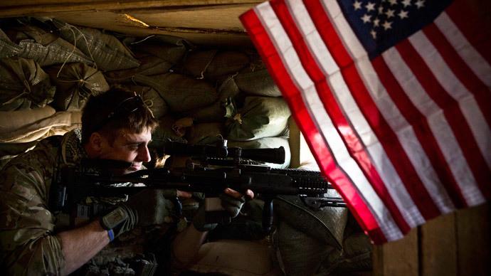 A US sniper in Azim-Jan-Kariz, Afghanistan (Reuters / Andrew Burton)