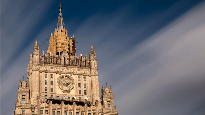 Building of the Russian Ministry of Foreign Affairs on Moscow's Smolenskaya-Sennaya Square. (RIA Novosti/Maksim Blinov)
